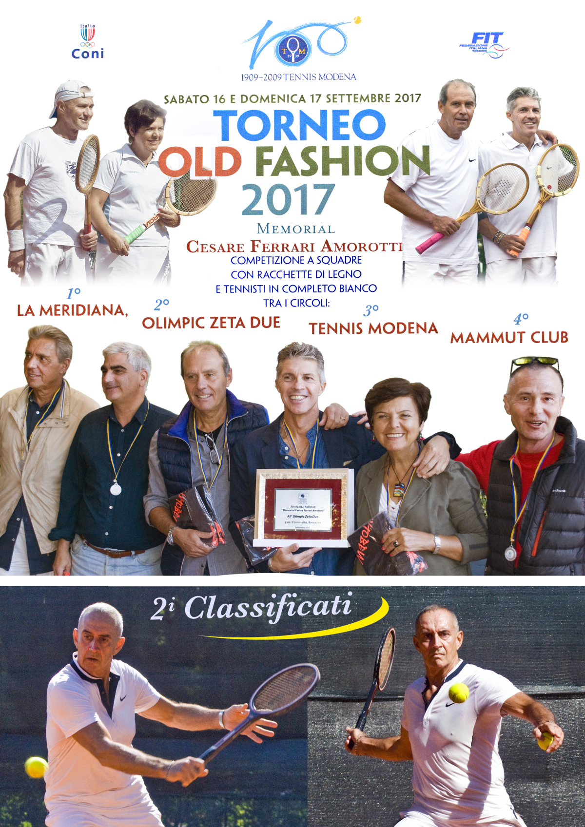 "TORNEO OLD FASHION – ""MEMORIAL CESARE FERRARI AMOROTTI"""